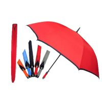 8402-30 Inch Fibre Frame Auto Open w Black Trimming Golf Umbrella
