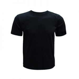 0207-Round Neck T-Shirt (Black)