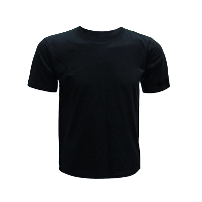 0207 Round Neck T Shirt Black