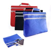 1307-Double Zipper Folder Bag 600D Nylon