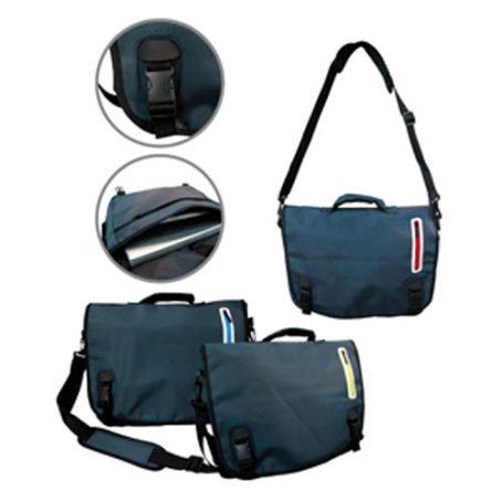 1505 Coloured Zip Messenger Bag