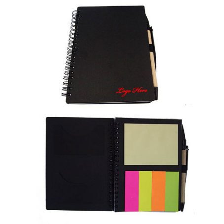4006 Reycled Notebook w Post it