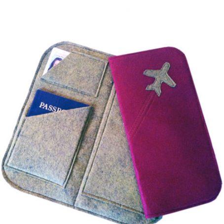 4107 Felt Travel Wallet