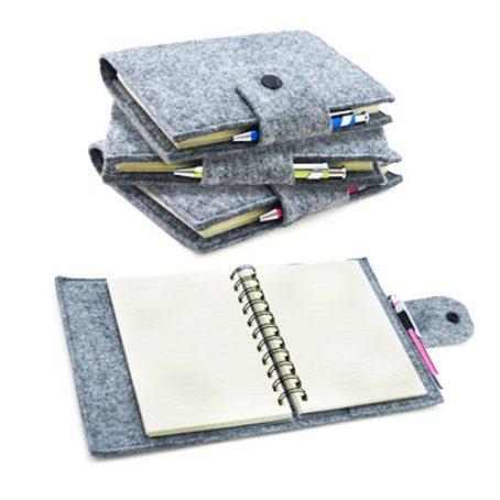 4109 Felt Spiral Notebook