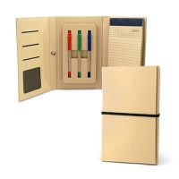4306-ECO Friendly A5 Notepad w Ballpen