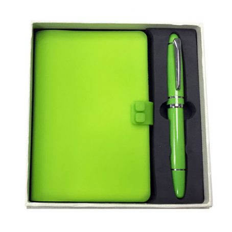 5009 Silicone Cover Notebook with Pen Set