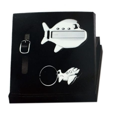 5018 Aeroplane Tag and Keycahin Set